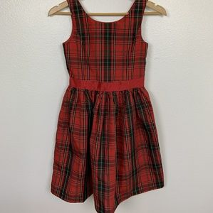 Chaps Girl Holidays Dress Plaid Red Sz: 14